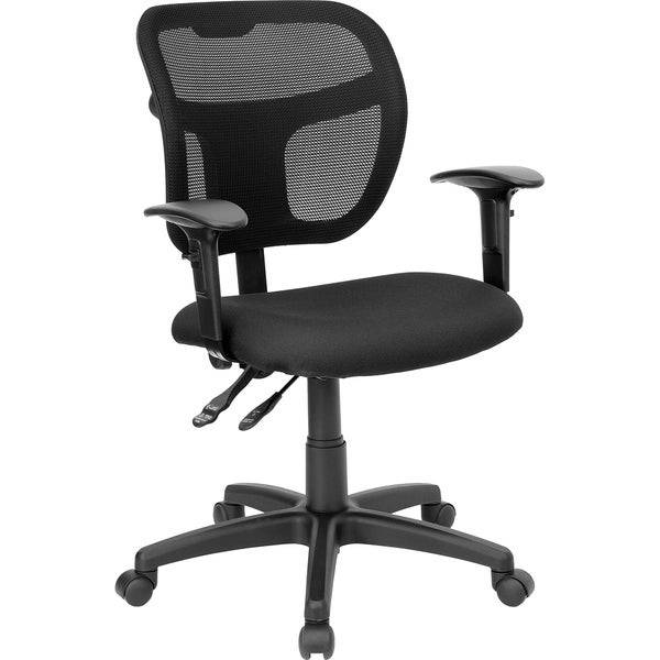 Mid-Back Mesh Swivel Task Office Chair with Back Height Adjustment