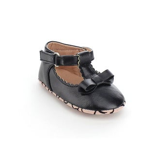VIA PINKY CIEL-74B Girl's Comfort Ankle Strap Bow Deco Flat Loafers