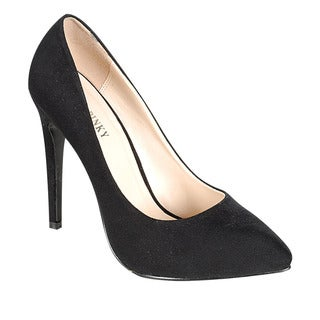 ANNIE PINKY KARA-08 Women's Basic Chic Solid Color Pumps