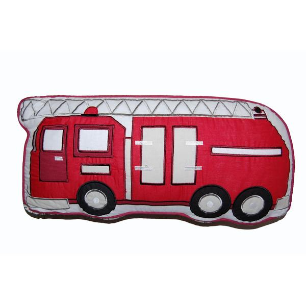 Fire Truck Decorative Pillow - Free Shipping On Orders Over $45 - Overstock.com - 17812383
