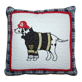 Dalmatian Fire Dog Decorative Pillow