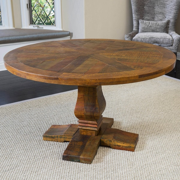 Merveilleux California Vintage Round Mango Wood Dining Table (ONLY) By Christopher  Knight Home   Brown