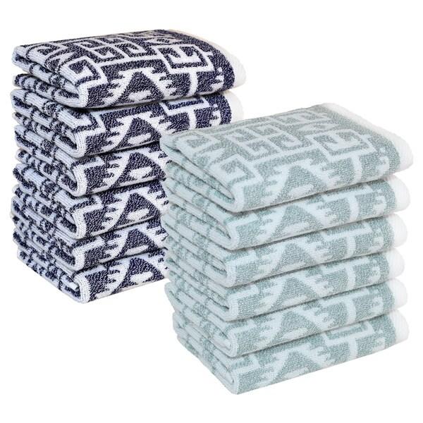 Authentic Hotel and Spa Kaya Turkish Cotton Jacquard Washcloth (Set of 6)