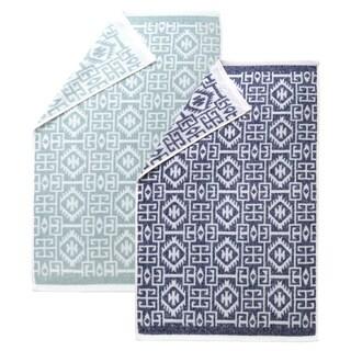 Authentic Hotel and Spa Kaya Turkish Cotton Jacquard Hand Towel (Set of 4)