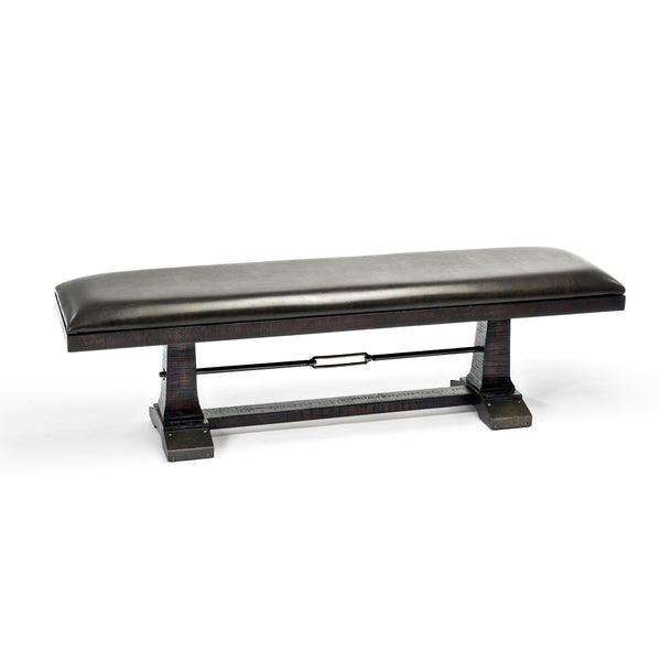 Hayden Rough Sawn Espresso 56 Inch Dining Bench