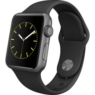 Apple Watch Sport Smartwatch (38mm, Space Gray Aluminum, Black Band)