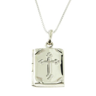 Handcrafted Sterling Silver Personalized Cross Locket (Thailand)