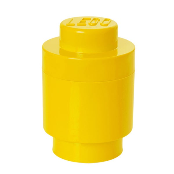 LEGO Bright Yellow Round Storage Brick 1