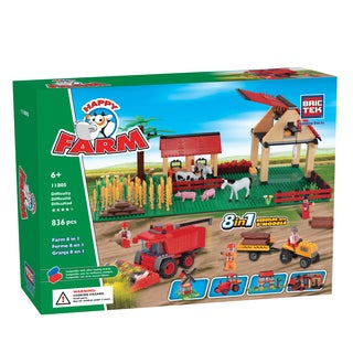 Brictek 8-in-1 Farm Set