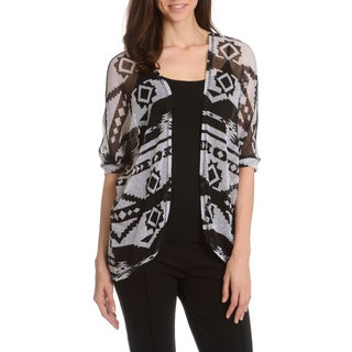 Chelsea & Theodore Women's Printed Knit Cardigan