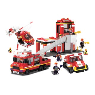 Brictek Fire Station with Sound and Light