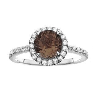 Isla Simone Fine Jewelry Platinum Plated Sterling Silver Round Cut Pave CZ Ring