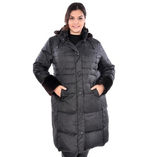 Nuage Women's Plus Size 'Zurich' Puffer Coat