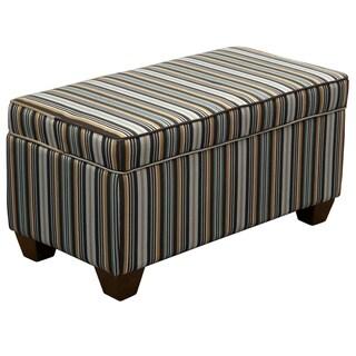 Skyline Furniture Storage Bench in Jordan Stripe Indigo