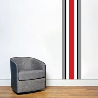 Ohio Red Black Gray Stripe Wall Decal