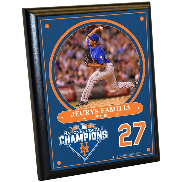 New York Mets 2015 National League Champions Jeurys Familia 8x10 Plaque w/ Game Used Dirt from Citi Field