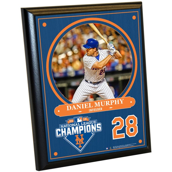 New York Mets 2015 National League Champions Daniel Murphy 8x10 Plaque with Game Used Dirt from Citi Field