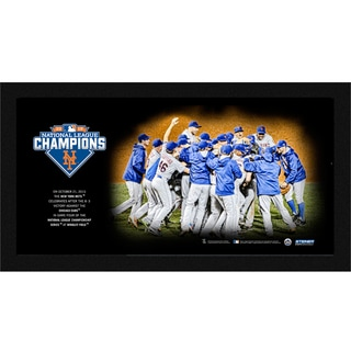 New York Mets 2015 National League Champions Celebration 10x20 Framed Photo