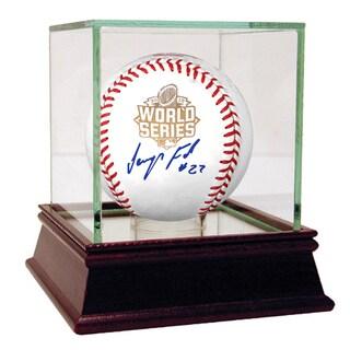 JEURYS FAMILIA AUTOGRAPHED MLB OFFICIAL 2015 WORLD SERIES LOGO BASEBALL