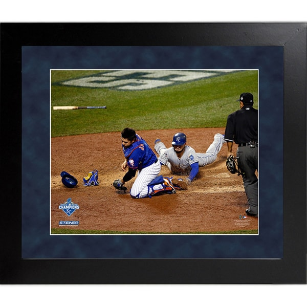 Kansas City Royals 2015 World Series Champions Key Moment Framed 16x20 Collage