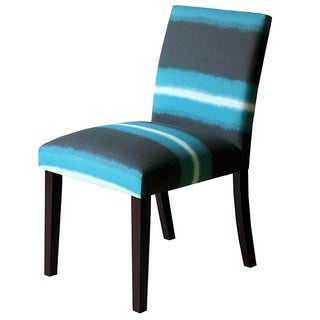 Skyline Furniture Uptown Dining Chair in Ombre Lines Peacock