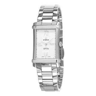 Eterna Women's 2410.41.65.0264 'Contessa' Silver/White Dial Stainless Steel Swiss Quartz Watch|https://ak1.ostkcdn.com/images/products/10759819/P17812617.jpg?_ostk_perf_=percv&impolicy=medium