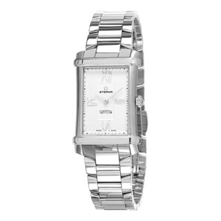 Eterna Women's 2410.41.65.0264 'Contessa' Silver/White Dial Stainless Steel Swiss Quartz Watch