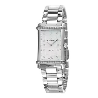 Eterna Women's 2410.48.67.0264 'Contessa' Mother of Pearl Diamond Dial Stainless Steel Swiss Quartz