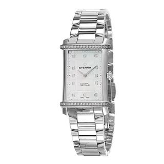 Eterna Women's 2410.48.67.0264 'Contessa' Mother of Pearl Diamond Dial Stainless Steel Swiss Quartz|https://ak1.ostkcdn.com/images/products/10759820/P17812618.jpg?impolicy=medium