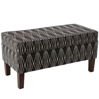 Skyline Furniture Storage Bench in Hand Shapes Coal