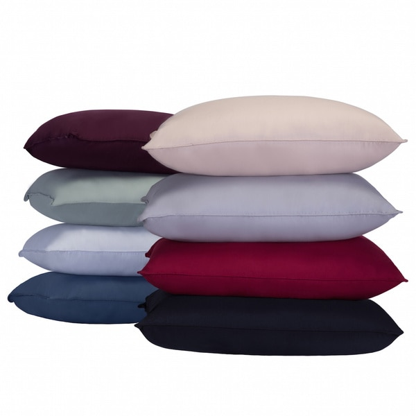 Nanofibre Color Microfiber Stain and Water Resistant Bed Pillow (Set of 2)