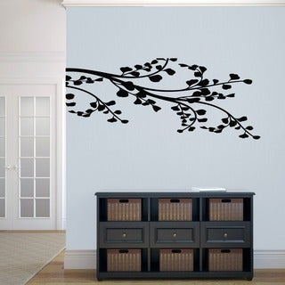 Leafy Branch Flourish Wall Decal (22.5x54)