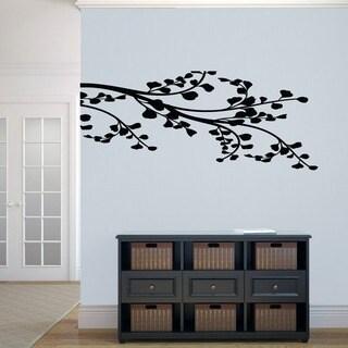Leafy Branch Flourish' 54 x 22.5-inch Wall Decal