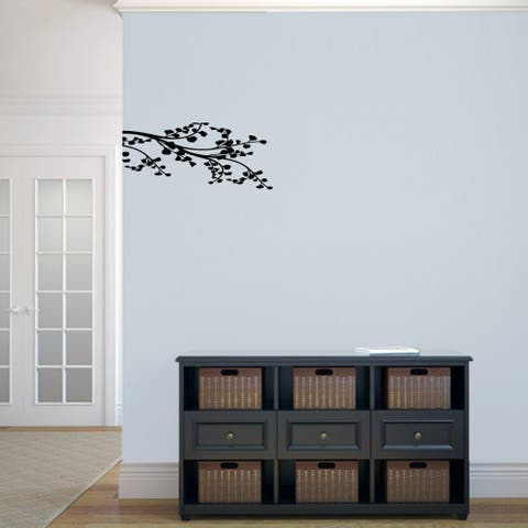 Leafy Branch Flourish' 22.5 x 10-inch Wall Decal