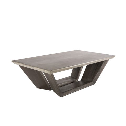 Sunpan 'MIXT' Langley Trapezoidal Concrete-top Coffee Table