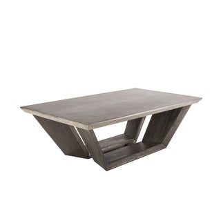 Sunpan 'MIXT' Langley Trapezoidal Concrete-top Coffee Table