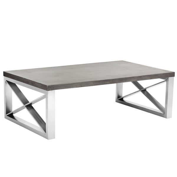 Sunpan 'MIXT' Catalan Coffee Table in Concrete