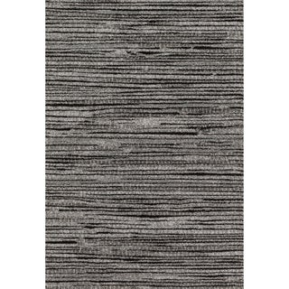 "Brently Grey/ Black Stripe Rug (3'10 x 5'7) - 3'10"" x 5'7"""
