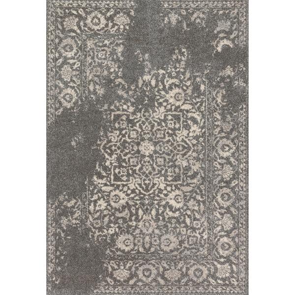 Brently Charcoal/ Ivory Rug (9'2 x 12'7)