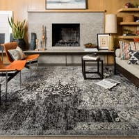 "Brently Black/ Ivory Rug - 5'3"" x 7'7"""