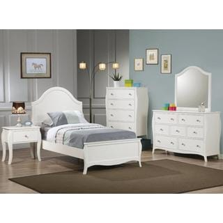 Furniture of America Young Olivia White Solid Wood 3-Piece Bedroom ...