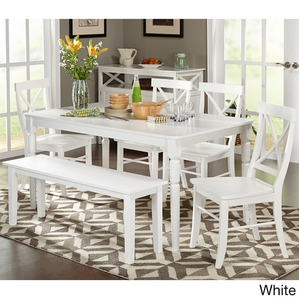Shop Simple Living 6 Piece Albury Dining Set With Dining Bench