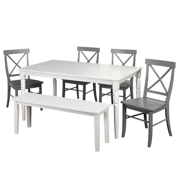Remarkable Shop Simple Living 6 Piece Albury Dining Set With Dining Creativecarmelina Interior Chair Design Creativecarmelinacom