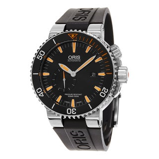 Oris Men's 743 7709 7184 RS 'Carlos Coste' Black Dial Black Rubber Strap Limited Edition IV Swiss Au