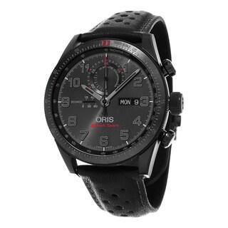 Oris Men's 778 7661 7784 LS 'Audi Sport' Black Dial Black Leather Strap Chronograph Limited Edition