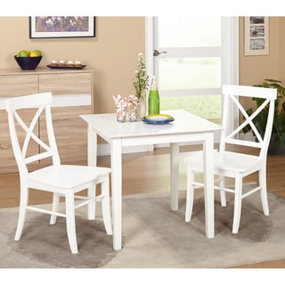 Simple Living 3 Piece Ancona Dining Set (4 Options Available)