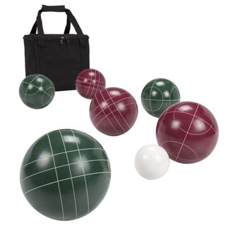 """Hey! Play! Regulation Size Bocce Ball Set - Red/Green - 3.96"""" Ball"""