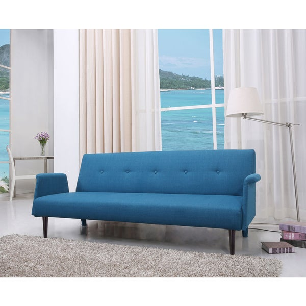 Westminster Blue Convertible Sofa Bed