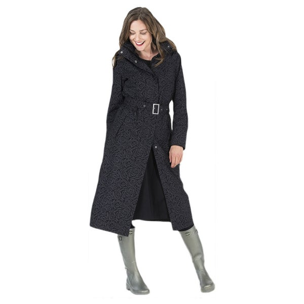 Happy Rainy Days Women's Long Jacket. Opens flyout.