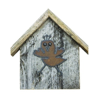 Natural Reclaimed Rustic Birdhouse Key Holder, CHIC-A-DEE